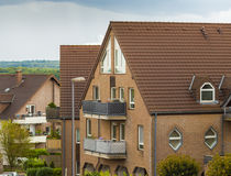 House shaped apartment buildings Stock Photos