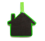 House Shaped Chalkboard sign Royalty Free Stock Photo
