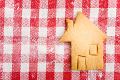 House shaped christmas cookie Stock Photography