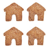 House Shaped Cookies Royalty Free Stock Image