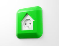 House shaped electricity socket Stock Photography