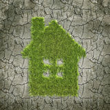 House shaped grass patch Stock Photos