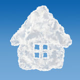 House shaped house data base concept Royalty Free Stock Images