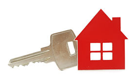 House shaped key chain Royalty Free Stock Photography