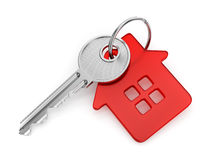 House shaped key-chain Stock Photography