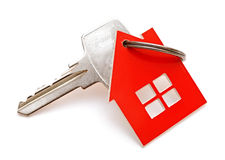 House shaped keychain Royalty Free Stock Photography