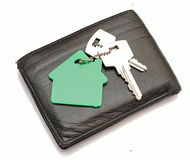 House shaped keychain Stock Photography