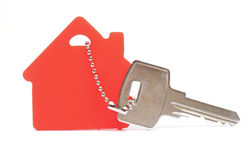 House shaped keychain Stock Photos