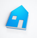 House shaped note pad Stock Image