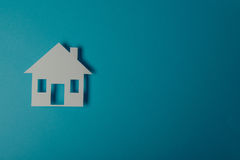 House shaped paper cutout Royalty Free Stock Image