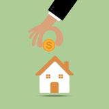 House shaped piggy bank Royalty Free Stock Photos