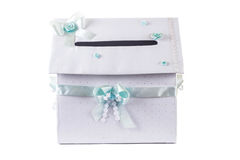 House shaped wedding envelope box Stock Photo