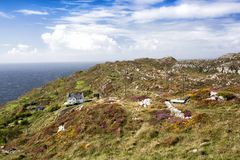 House on Sheeps Head, West Cork, Ireland. House on Sheeps Head Peninsula on the Wild Atlantic Way, West Cork, Ireland Royalty Free Stock Images