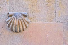 House of shells in Salamanca. Detail of the facade of the House of shells in Salamanca Royalty Free Stock Images