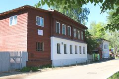 House Shemyakina in the town of Plyos on the Volga river Stock Photography