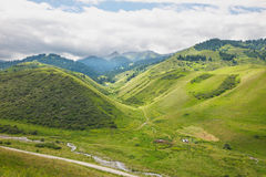 House of the shepherd in mountains. House of the shepherd in picturesque mountains Stock Image