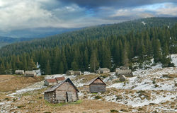 House of shepherds in Carpathians Royalty Free Stock Photos