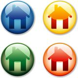 House shiny buttons Royalty Free Stock Image
