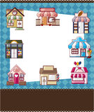 House / shop card. Vector,illustration Royalty Free Stock Photos