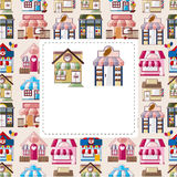 House / shop card. Vector, illustration Royalty Free Illustration