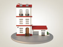 House and shop Royalty Free Stock Image