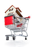 House and shopping cart Royalty Free Stock Photo