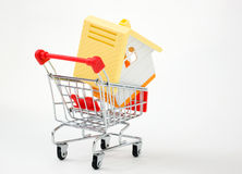 House in shopping cart Stock Photo