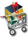 House in Shopping Cart Royalty Free Stock Photography