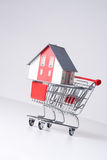 House in shopping cart Stock Photography