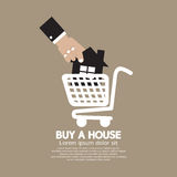 House In Shopping Cart Buy A House Concept Royalty Free Stock Photo