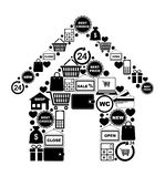 House of shopping icons Royalty Free Stock Photo