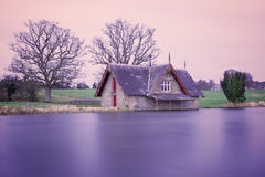 House on the shore of Lake Stock Images