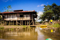 House on the side of Amazon River Royalty Free Stock Photos