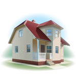 House with siding trim. Detailed illustration. Royalty Free Stock Photography
