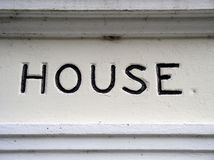 House sign. Country house in Sussex, England stock photography