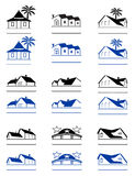 House signs. Illustration of a houses isolated on white Royalty Free Stock Image