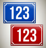 House Signs with place for your text or number Royalty Free Stock Image