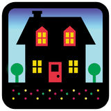 House silhouette. Icon of a house colored in Photoshop, great for realtor use Stock Images
