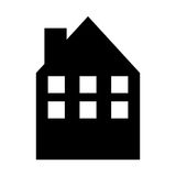 House silhouette isolated icon Royalty Free Stock Photo
