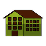 House silhouette isolated icon Stock Image