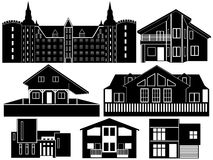 House Silhouettes Royalty Free Stock Photos