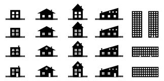 House silhouettes collection Royalty Free Stock Images
