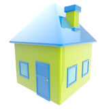House simple glossy emblem isolated Stock Photo