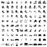 100 house simple icons. Set for web and mobile devices Stock Photo