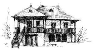 House sketch Royalty Free Stock Image
