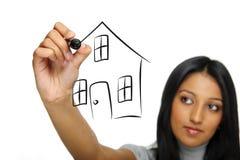 House sketch stock photo