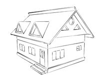 Free House Sketch Royalty Free Stock Photography - 38743997