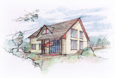House sketch design Stock Images