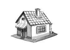 House sketch Stock Photography