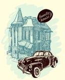 House sketch illustration Royalty Free Stock Image